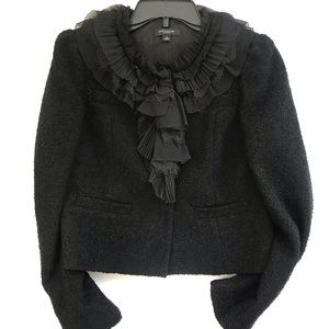 Ann Taylor Wool blended blazer with ruffles neck 4
